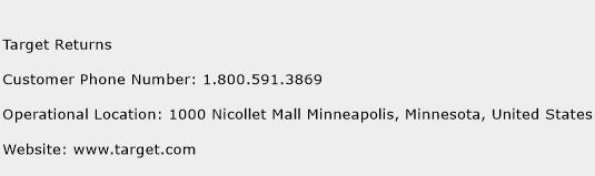 Target Returns Phone Number Customer Service