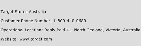 Target Stores Australia Phone Number Customer Service