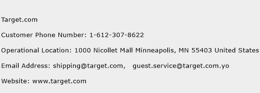 Target.com Phone Number Customer Service