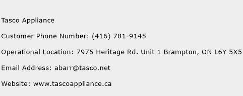 Tasco Appliance Phone Number Customer Service