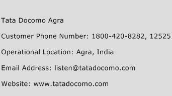 Tata Docomo Agra Phone Number Customer Service