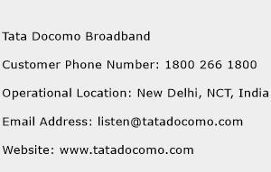 Tata Docomo Broadband Phone Number Customer Service