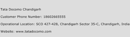 Tata Docomo Chandigarh Phone Number Customer Service