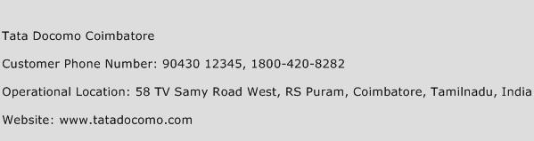 Tata Docomo Coimbatore Phone Number Customer Service