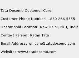 Tata Docomo Customer Care Phone Number Customer Service