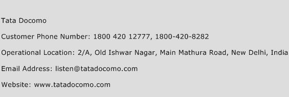 Tata Docomo Phone Number Customer Service