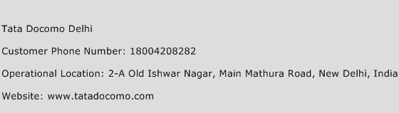 Tata Docomo Delhi Phone Number Customer Service