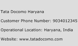 Tata Docomo Haryana Phone Number Customer Service