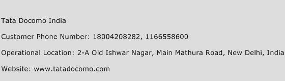 Tata Docomo India Phone Number Customer Service