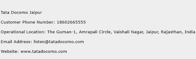 Tata Docomo Jaipur Phone Number Customer Service