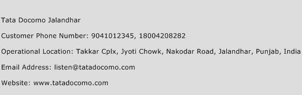 Tata Docomo Jalandhar Phone Number Customer Service