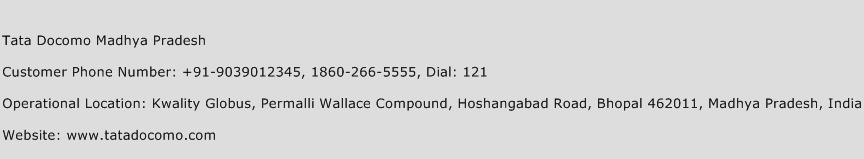 Tata Docomo Madhya Pradesh Phone Number Customer Service