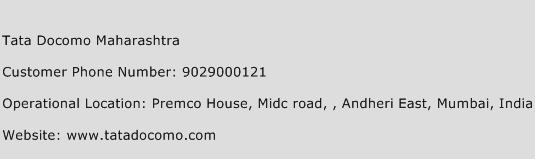 Tata Docomo Maharashtra Phone Number Customer Service