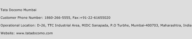 Tata Docomo Mumbai Phone Number Customer Service