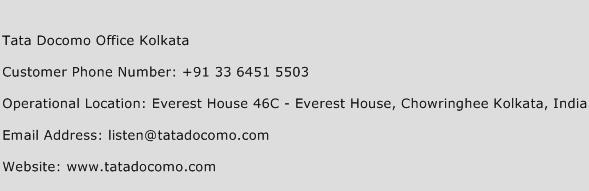 Tata Docomo Office Kolkata Phone Number Customer Service
