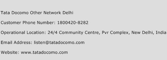 Tata Docomo Other Network Delhi Phone Number Customer Service