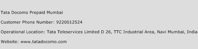 Tata Docomo Prepaid Mumbai Phone Number Customer Service