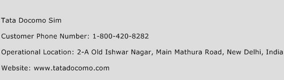 Tata Docomo Sim Phone Number Customer Service