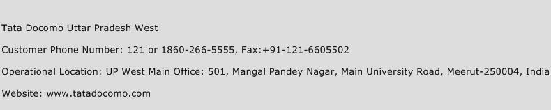 Tata Docomo Uttar Pradesh West Phone Number Customer Service