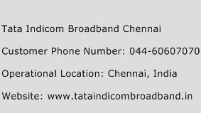 Tata Indicom Broadband Chennai Phone Number Customer Service