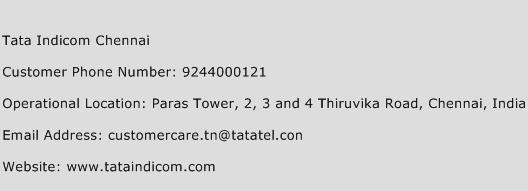 Tata Indicom Chennai Phone Number Customer Service