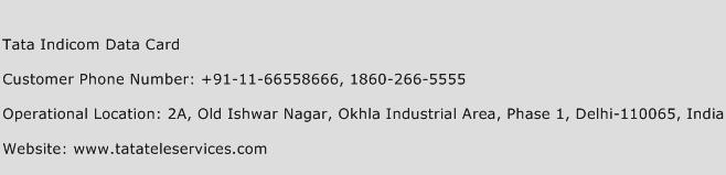 Tata Indicom Data Card Phone Number Customer Service