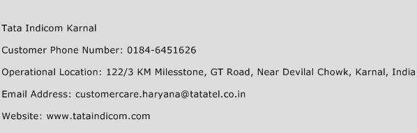 Tata Indicom Karnal Phone Number Customer Service