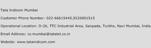 Tata Indicom Mumbai Phone Number Customer Service