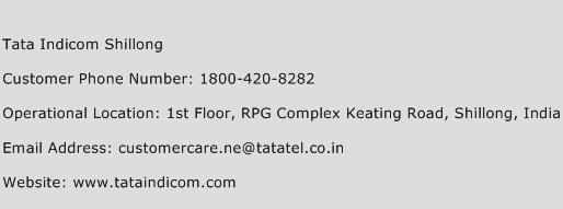 Tata Indicom Shillong Phone Number Customer Service