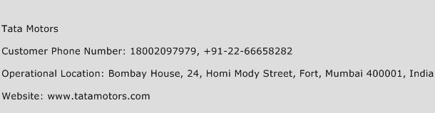 Tata Motors Phone Number Customer Service