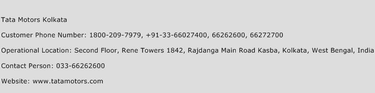 Tata Motors Kolkata Phone Number Customer Service