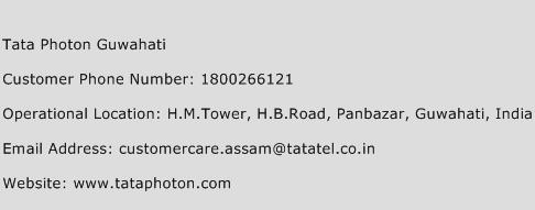 Tata Photon Guwahati Phone Number Customer Service