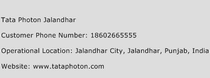 Tata Photon Jalandhar Phone Number Customer Service