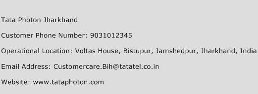 Tata Photon Jharkhand Phone Number Customer Service