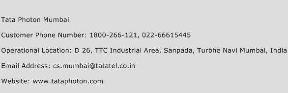 Tata Photon Mumbai Phone Number Customer Service