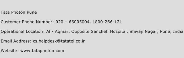 Tata Photon Pune Phone Number Customer Service