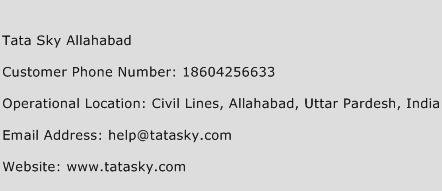 Tata Sky Allahabad Phone Number Customer Service