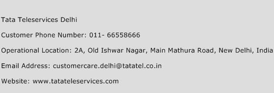 Tata Teleservices Delhi Phone Number Customer Service