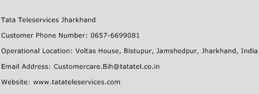 Tata Teleservices Jharkhand Phone Number Customer Service