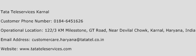 Tata Teleservices Karnal Phone Number Customer Service