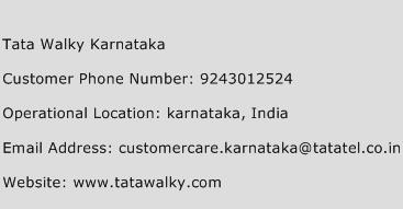Tata Walky Karnataka Phone Number Customer Service