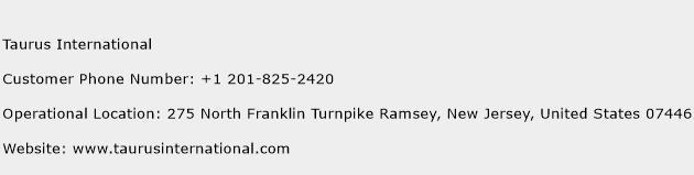 Taurus International Phone Number Customer Service