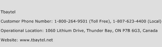 Tbaytel Phone Number Customer Service