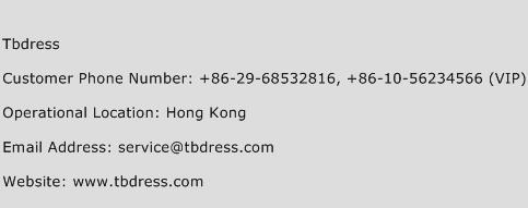 Tbdress Phone Number Customer Service