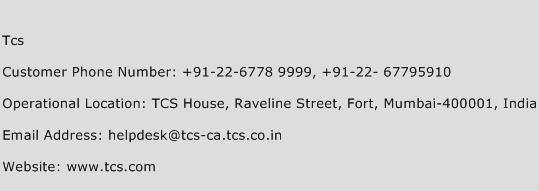 Tcs Phone Number Customer Service