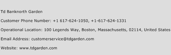 Td Banknorth Garden Phone Number Customer Service
