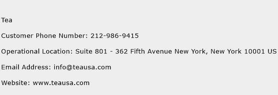 Tea Phone Number Customer Service