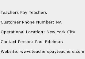 Teachers Pay Teachers Phone Number Customer Service