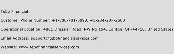 Tebo Financial Phone Number Customer Service