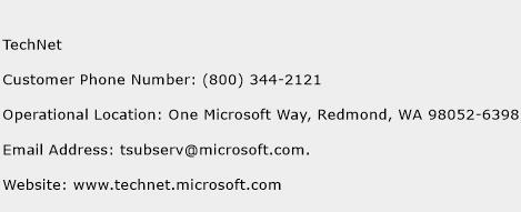 TechNet Phone Number Customer Service